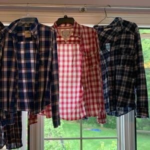 flannels blue/red/multicolored